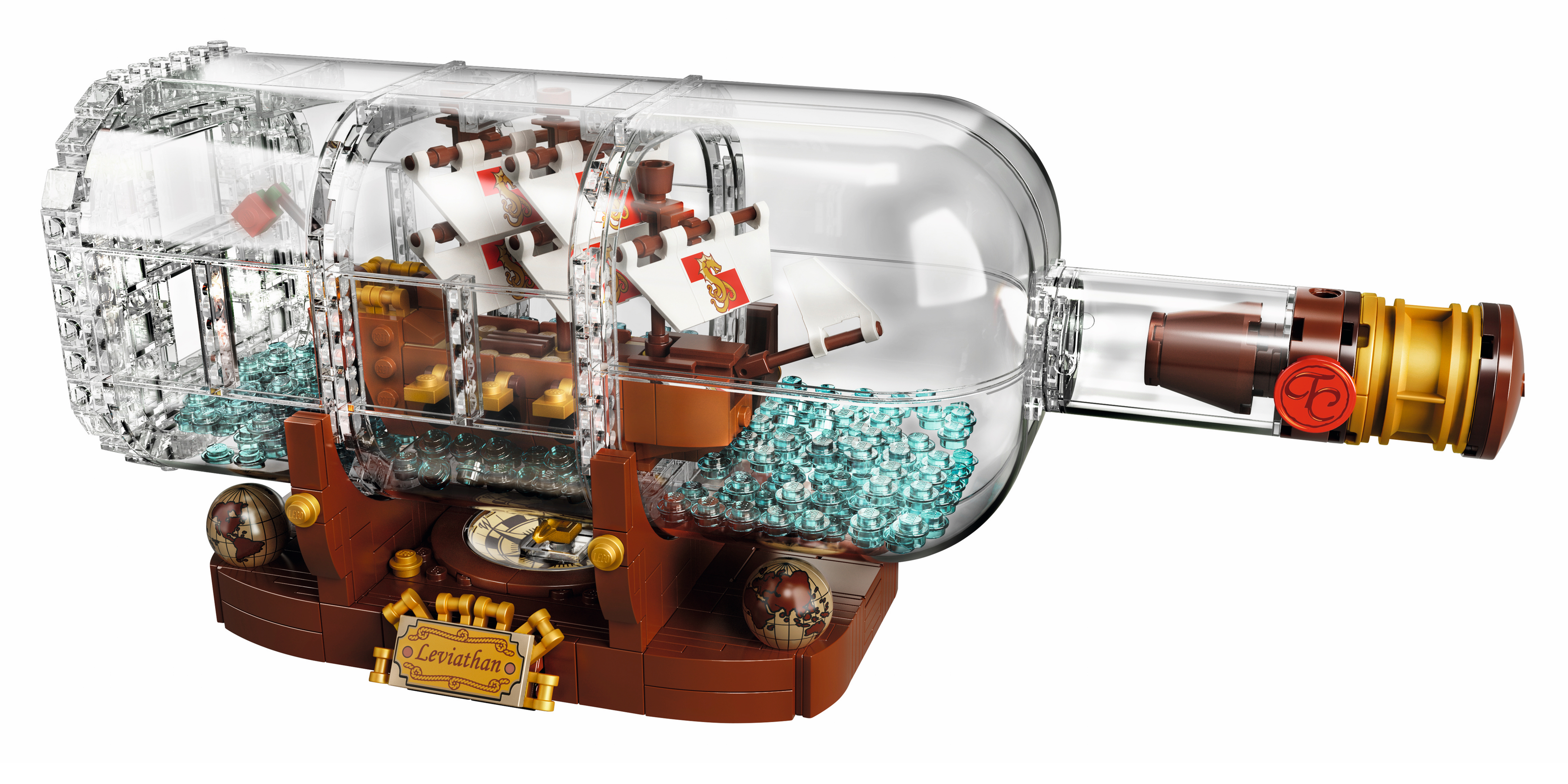 LEGO Ideas' latest 962-piece Ship in a Bottle set washes onto store shelves