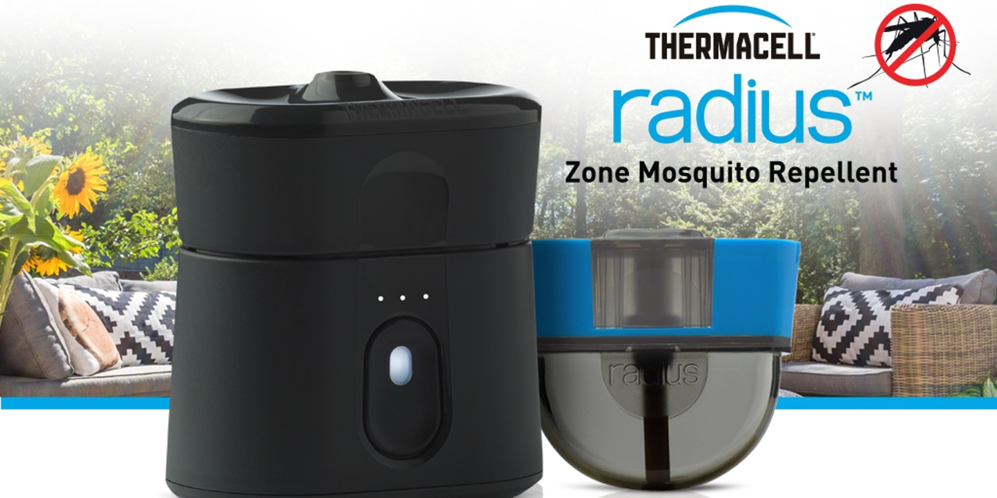 Radius is a rechargeable device that allows you to keep mosquitoes away without sprays