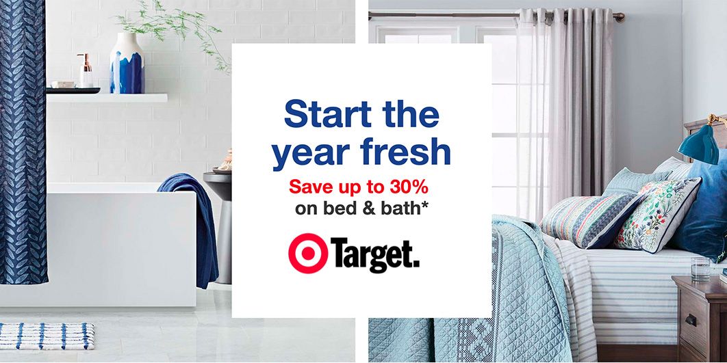 Target Start the Year Fresh Event: up to 30% off bedding & bath ...