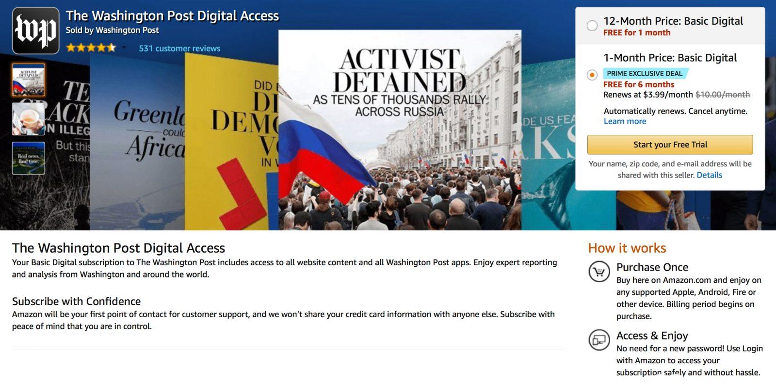 how to cancel washington post digital subscription