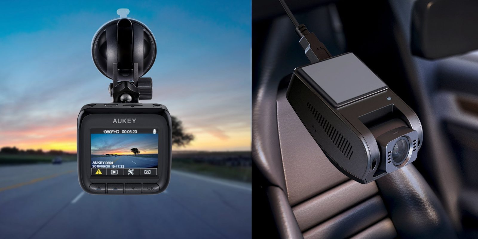 These Aukey Dash Cams record 6 lanes of traffic w/ 1080p or 4K sensors, starting at $48