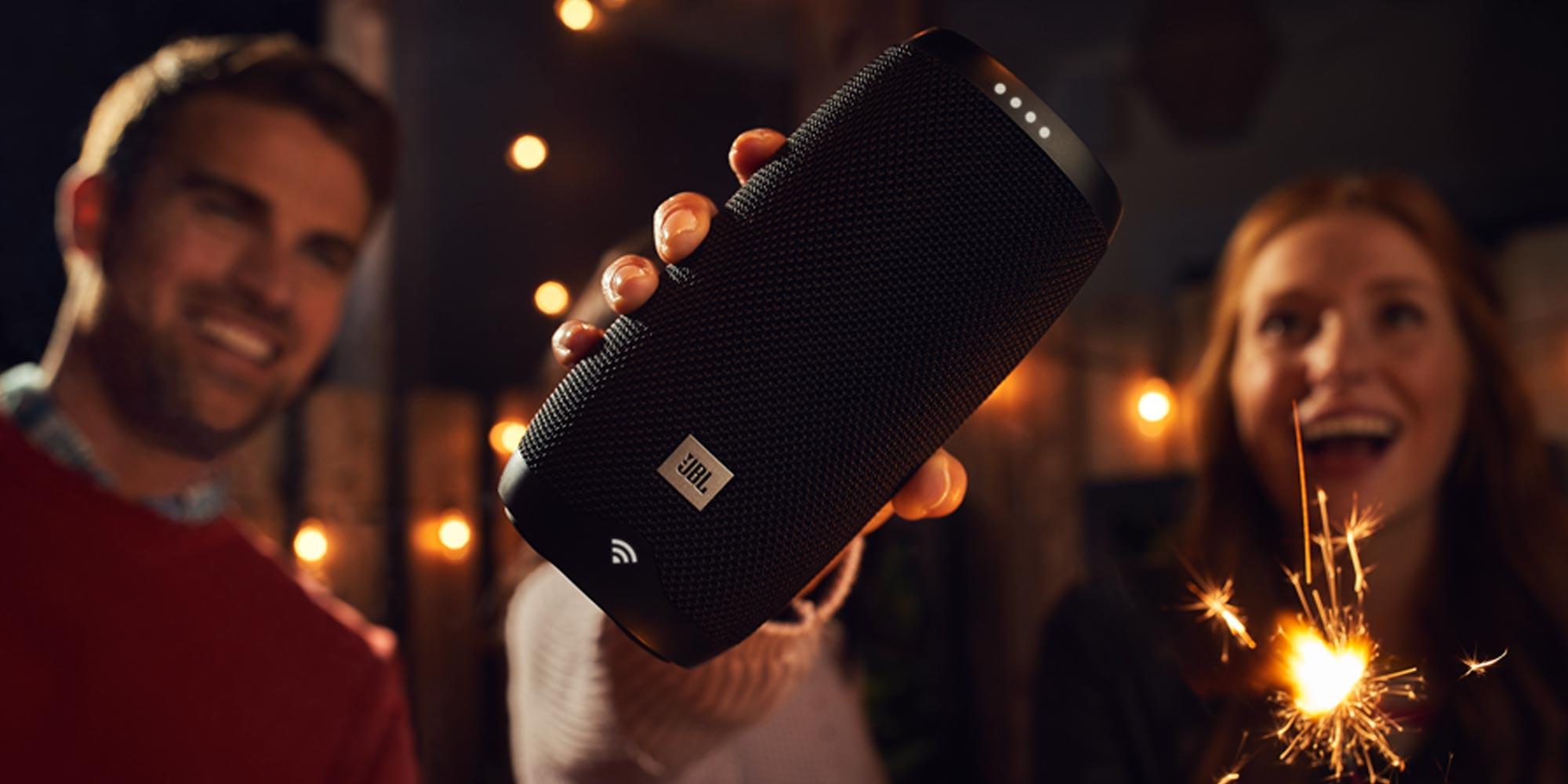 JBL's Link 10 Assistant-enabled portable speaker is waterproof for $50 (Refurb, Orig. $150)
