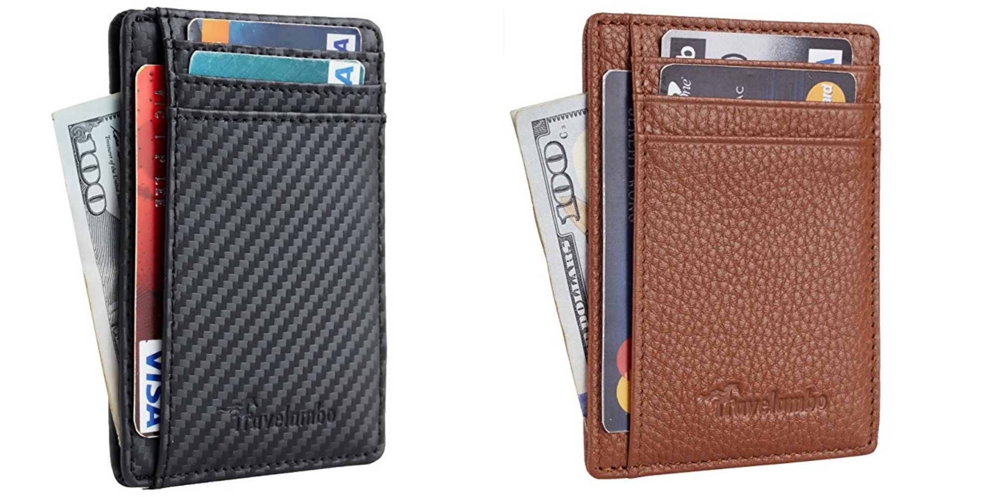 Front Pocket Leather Slim Wallets w/ RFID Blocking for $12 Prime shipped