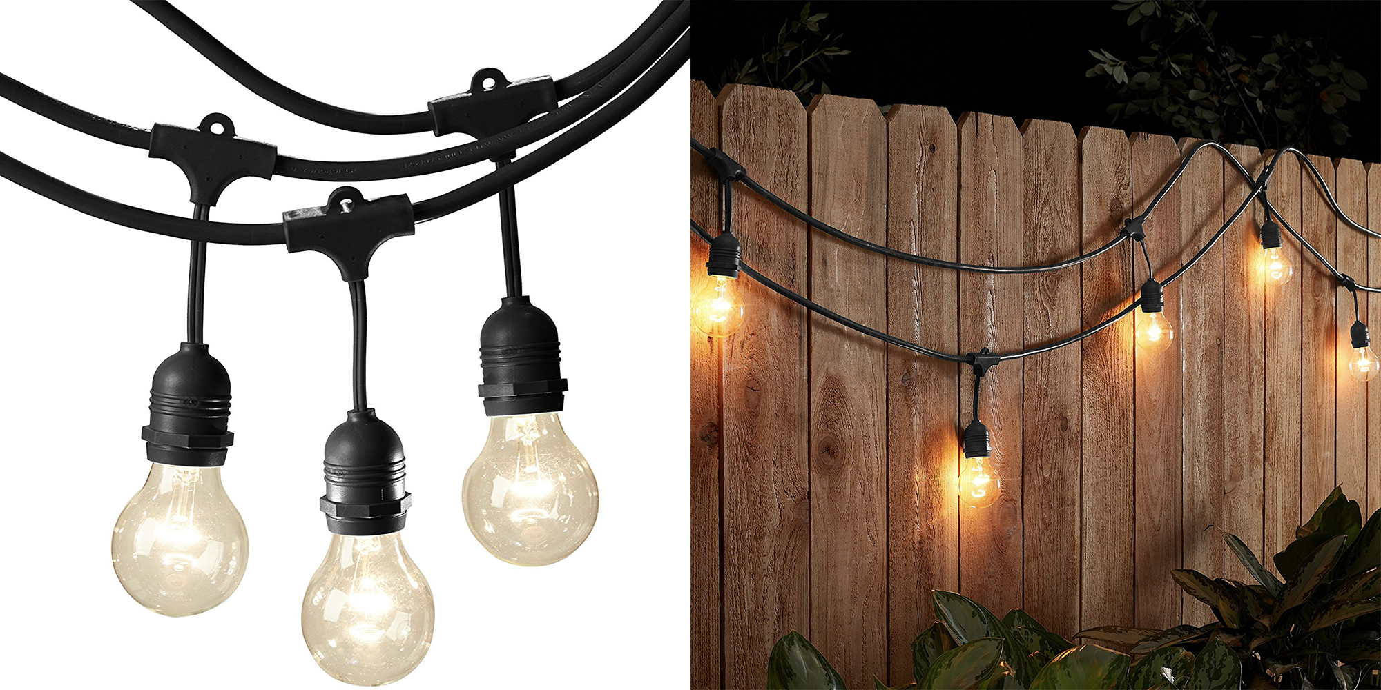 Amazon makes those cool outdoor string lights now: 48-foot for $40 shipped