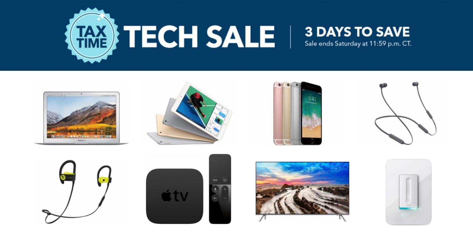 Best Buy 3-day Tax Sale: 9.7-inch iPad $250, Powerbeats3 $105, Macs ...