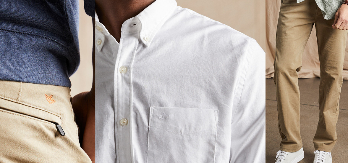 Dockers Real Guys, Real Comfort Sale: khakis & shirts from $13