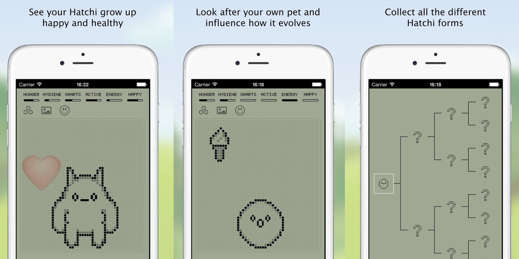 Hatchi is one of those retro virtual pets for iOS and now FREE (Reg. $1)