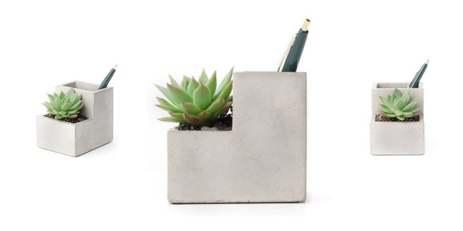 eco-friendly office supplies planter