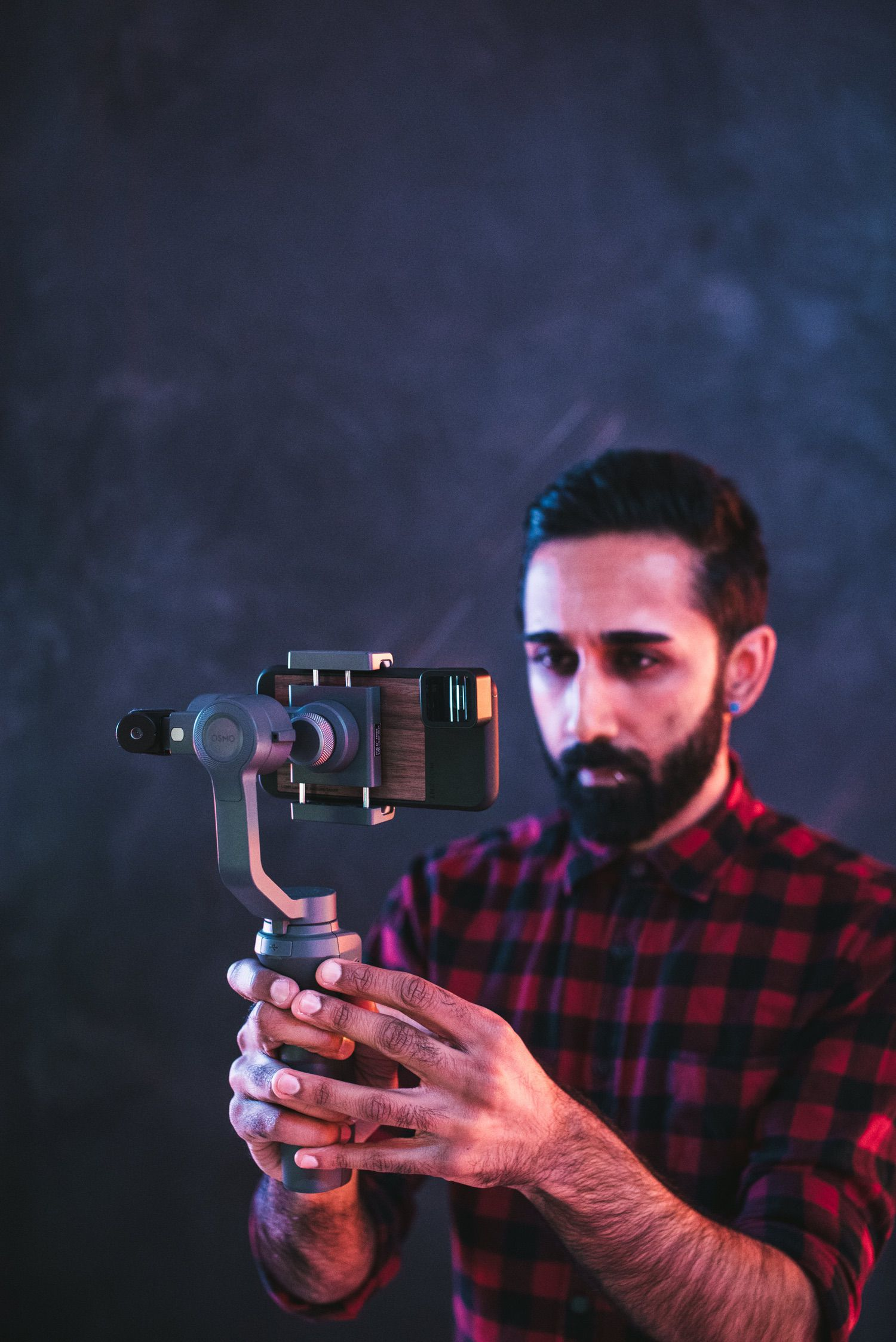 Moment Anamorphic Lens Universal Counterweight on DJI Osmo Mobile 2