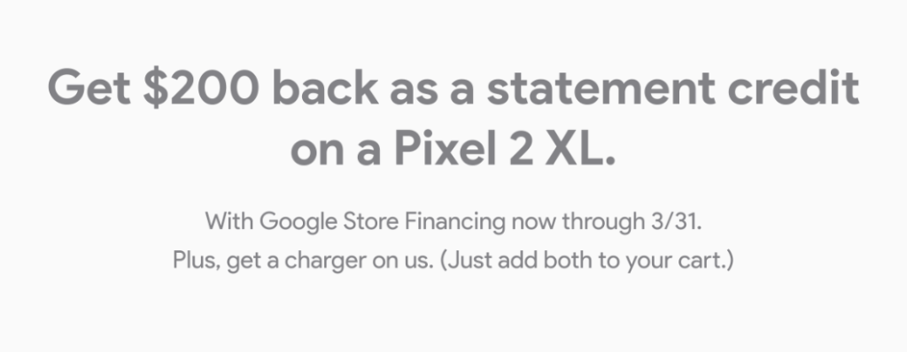 Google Store Pixel 2 XL Promo