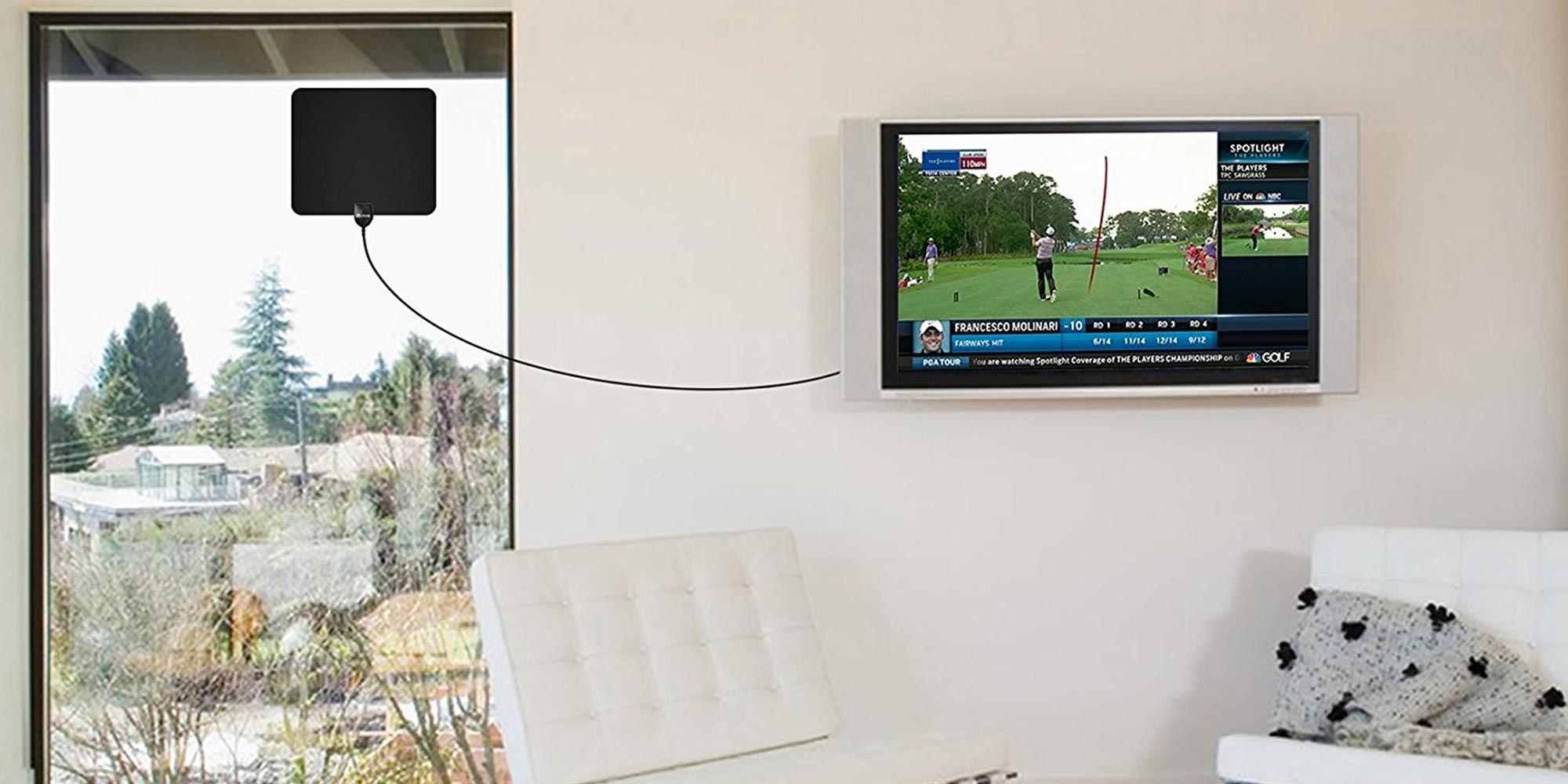Avoid cable fees w/ Skyfind's 50-mile over the air HDTV antenna for just $10 Prime shipped