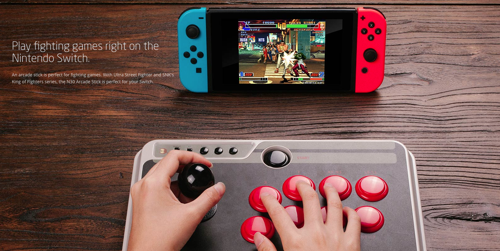 8Bitdo N30 Arcade Stick for Switch, PC, Mac & Android drops