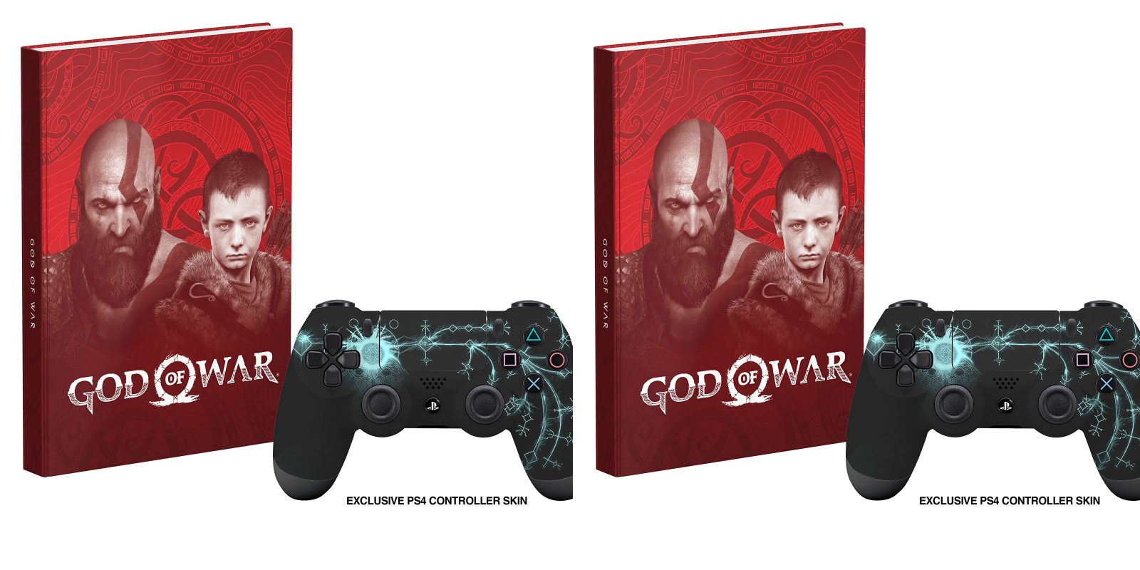 God of War hardcover Collector's Edition Guide + PS4 controller skin