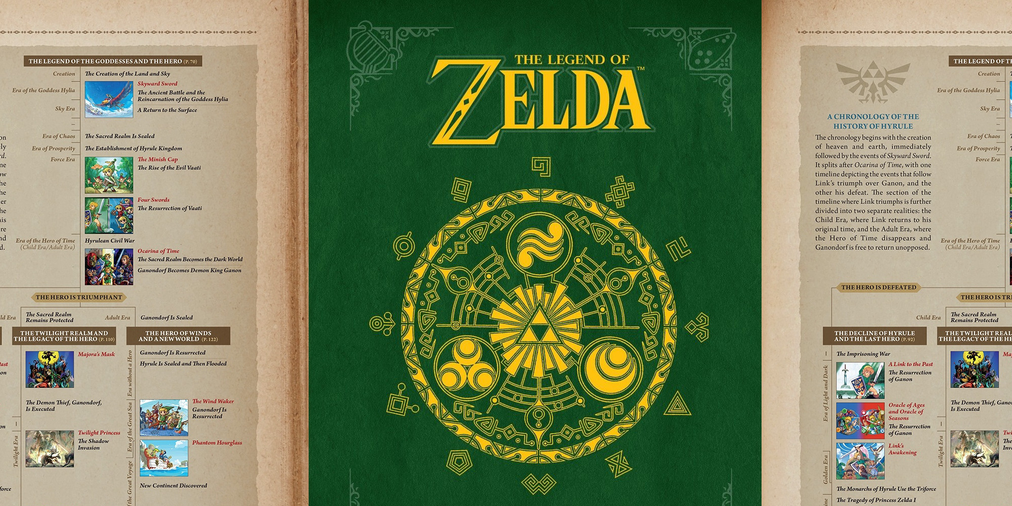 The official Zelda Hyrule Historia hardcover book now $17 50