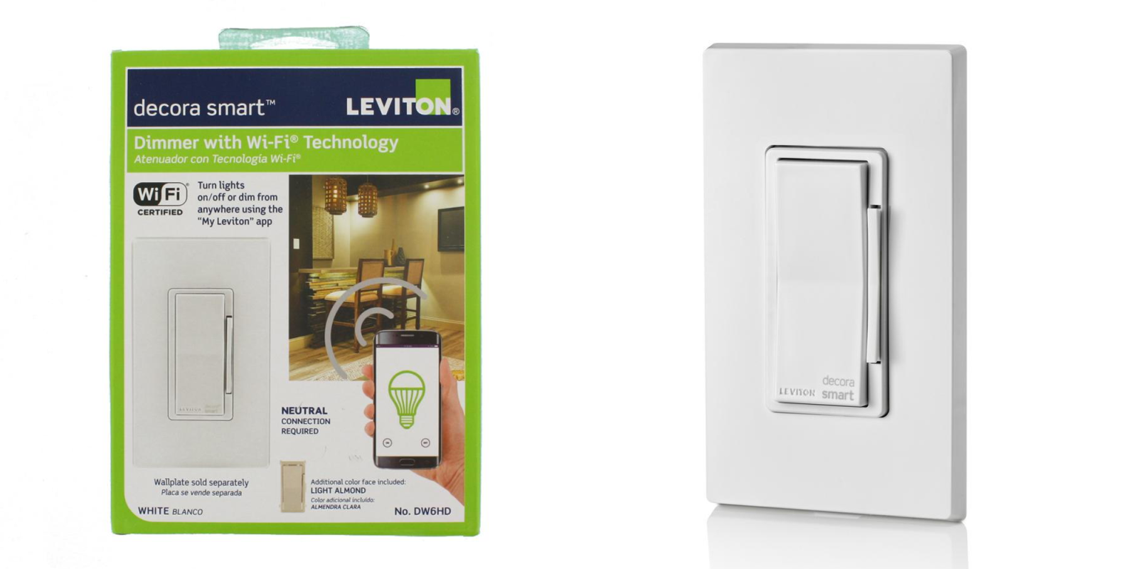 Leviton\'s Decora Smart Wi-Fi Light Switch packs Alexa-control for ...
