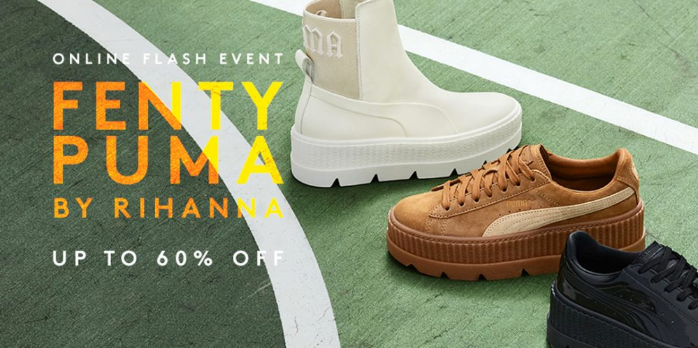 new style 2ac5a eaffc PUMA Flash Sale including Fenty by Rihanna is up to 60% off ...