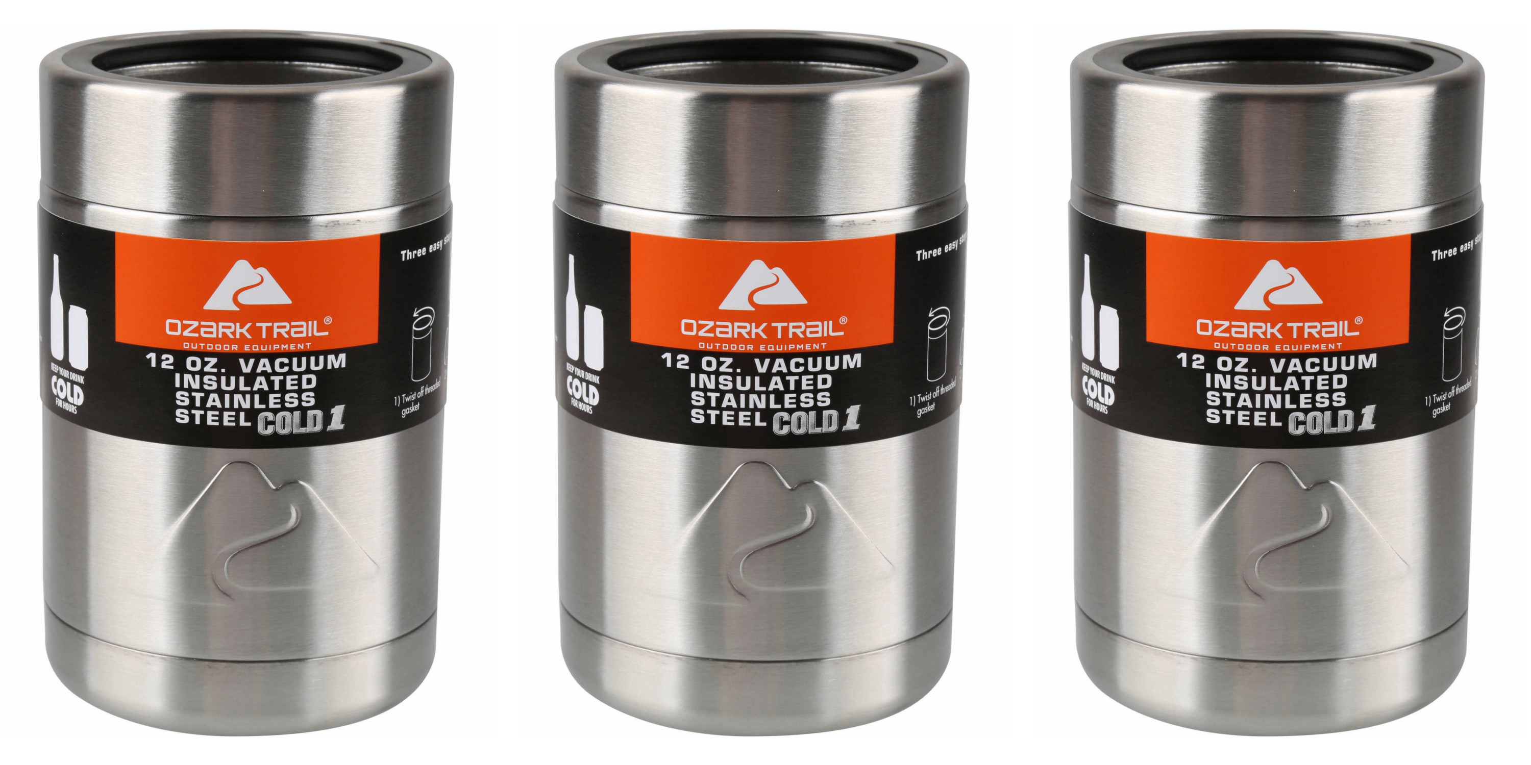 9bce5eab6fe Ozark Trail 12-Oz. Stainless Vacuum Insulated Can Coolers from under $3  (Reg. $7+) - 9to5Toys