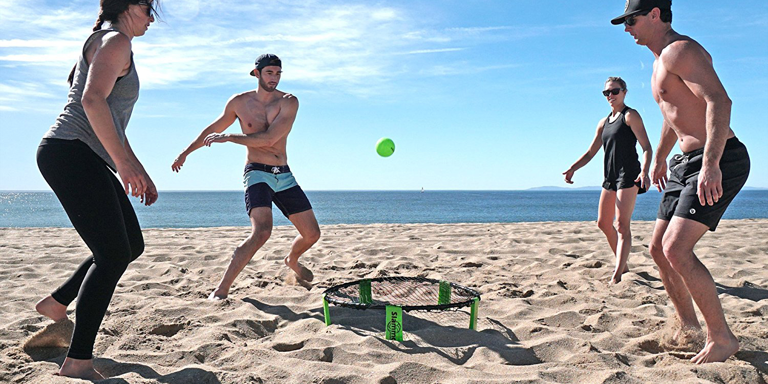 Jump into Slammo, the outdoor volleyball-style game, for $26 shipped via Amazon