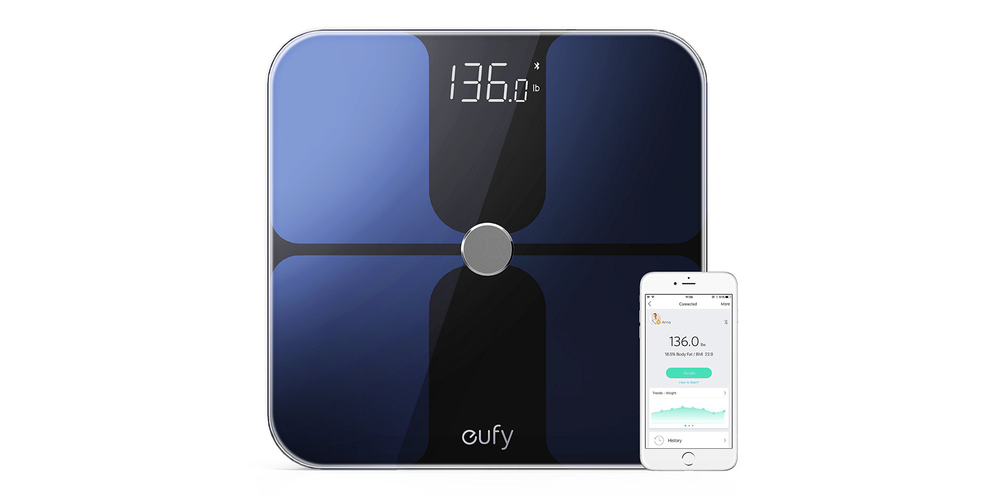 Track body fat, BMI, bone mass & more w/ eufy's Smart Scale for $31.50 (more than 20% off)