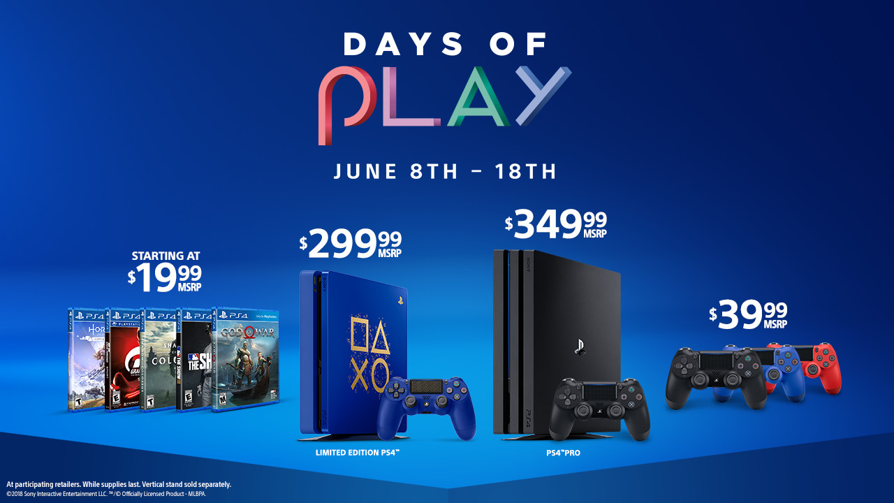 sony launches massive summer price drops 50 off ps4 pro. Black Bedroom Furniture Sets. Home Design Ideas