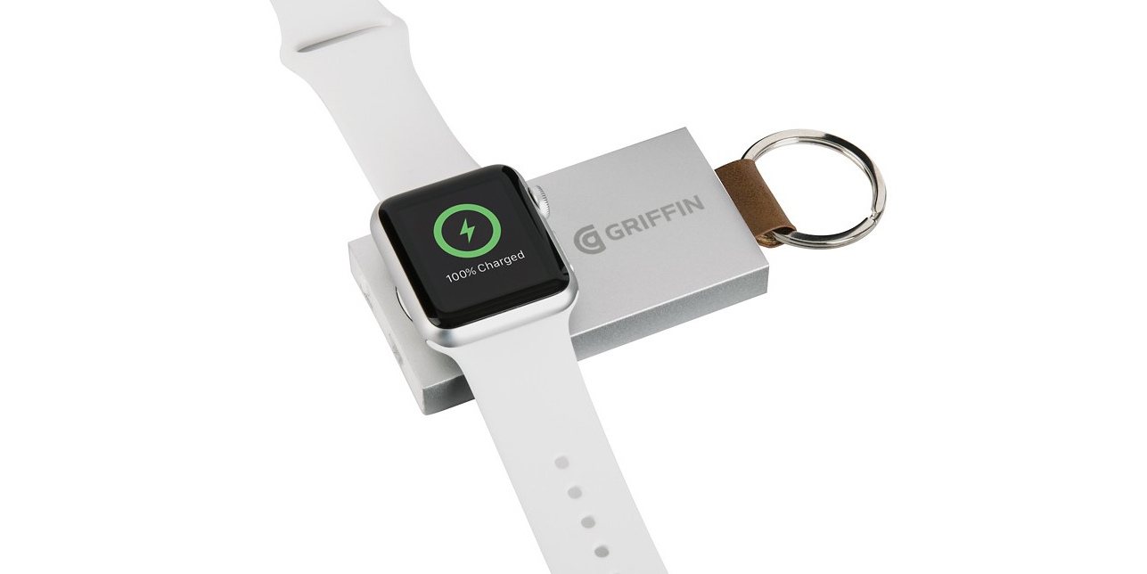 Charge your Apple Watch on-the-go w/ Griffin's portable power bank for $34 (Reg. $50)