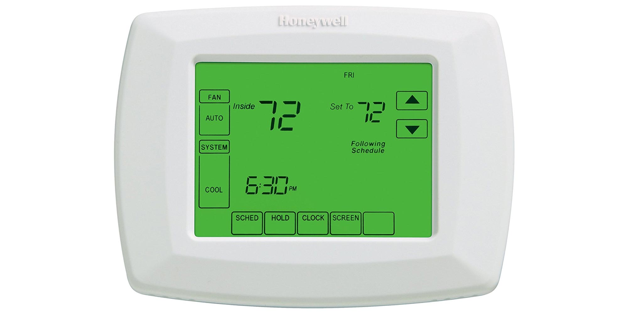 Honeywell U0026 39 S Touchscreen 7-day Programmable Thermostat Drops To  40  Reg   80