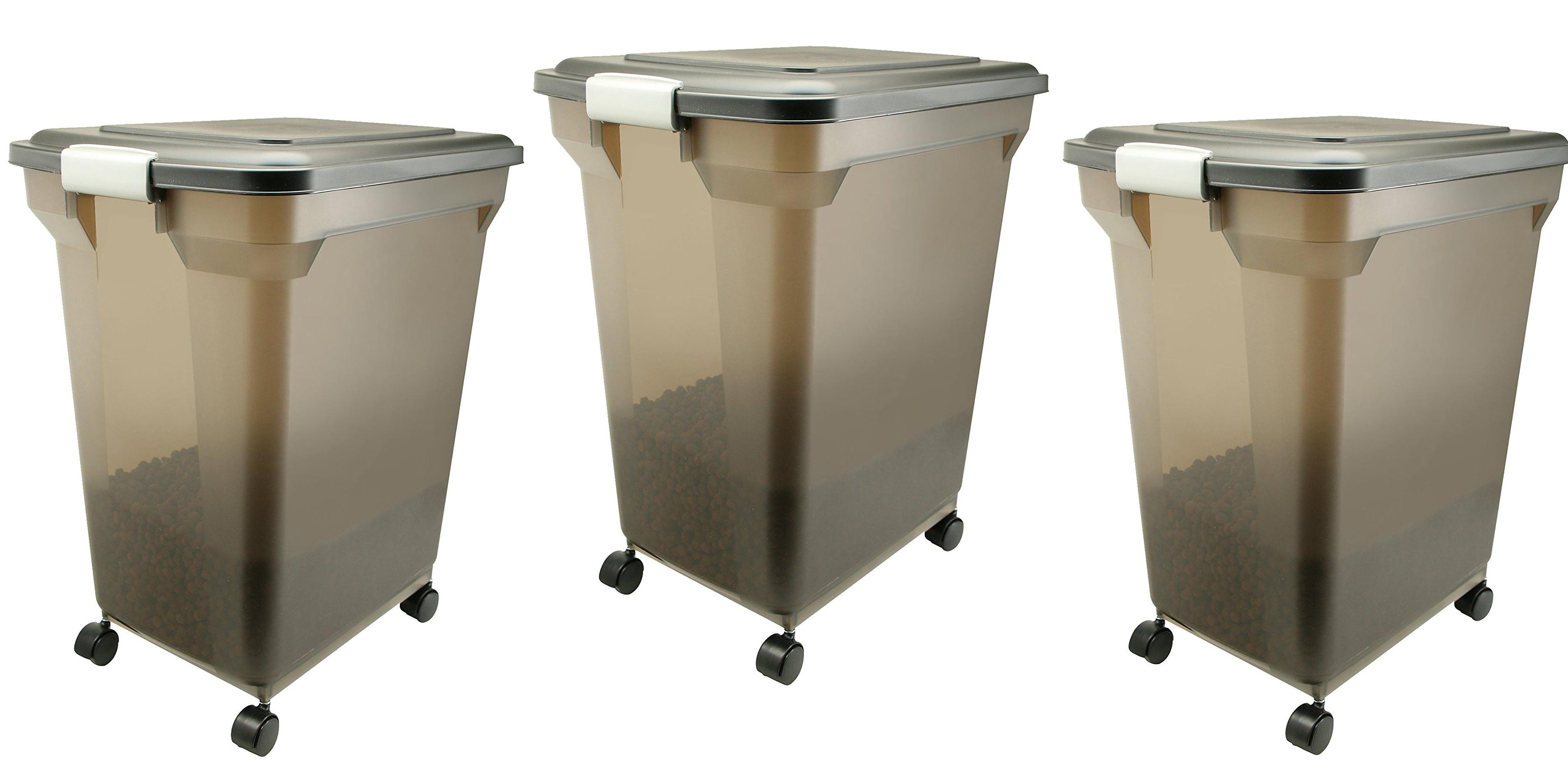 IRIS Premium 55 Lb. Airtight Pet Food Storage Container Now Under $20 Prime  Shipped
