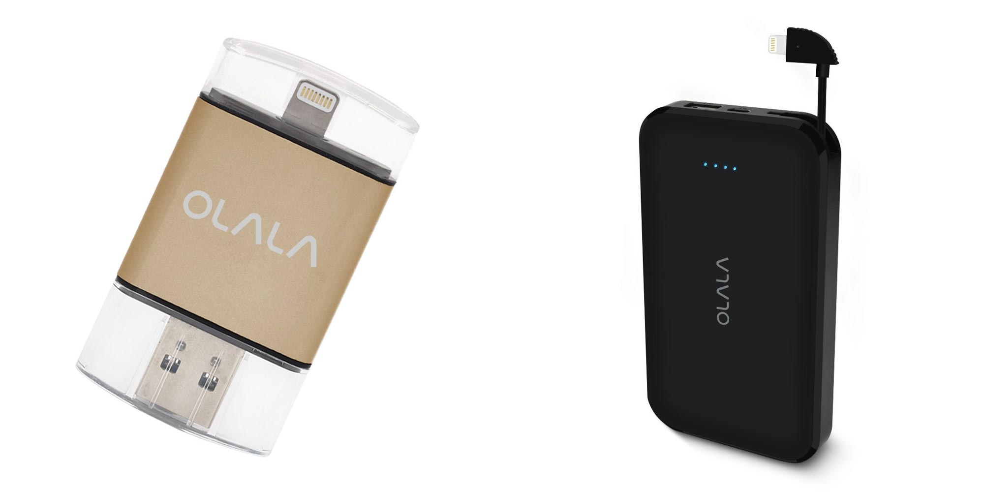 OLALA MFi-certified portable battery and flash drive accessories from $22
