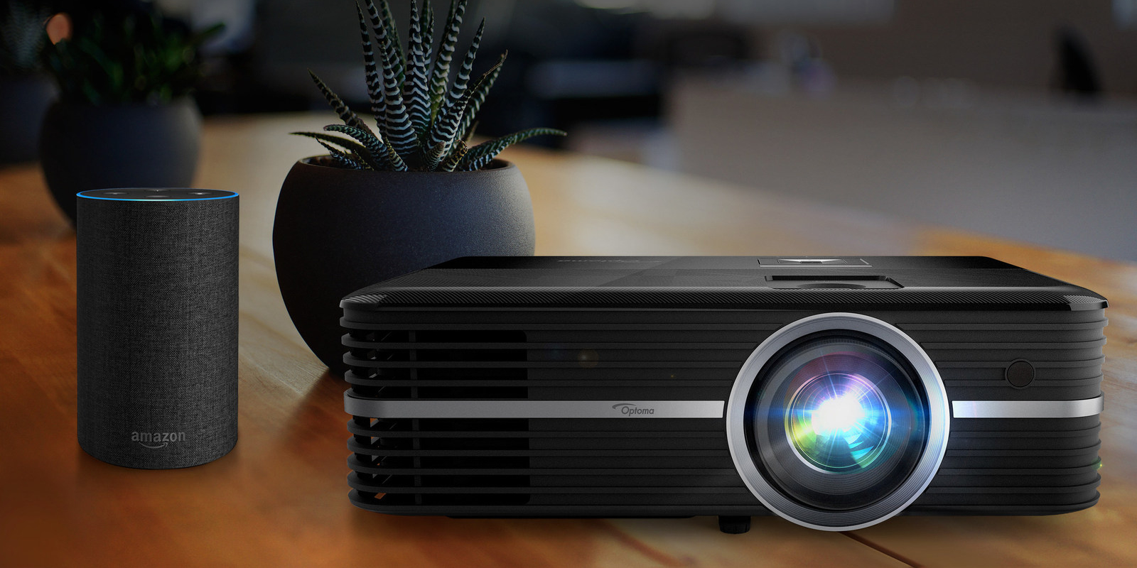 Optoma pressures competitors with its new Alexa-enabled UHD projector