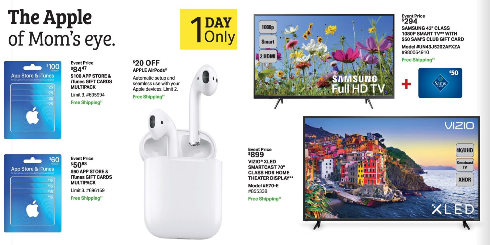 Sam\'s Club 1-day sale includes Apple discounts, TVs, home goods and ...