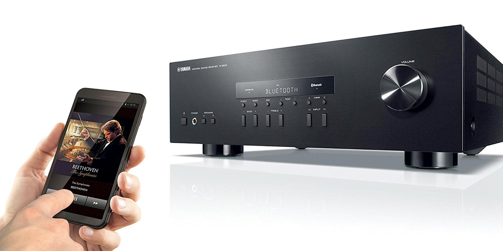 this yamaha receiver w bluetooth is great for budget home. Black Bedroom Furniture Sets. Home Design Ideas