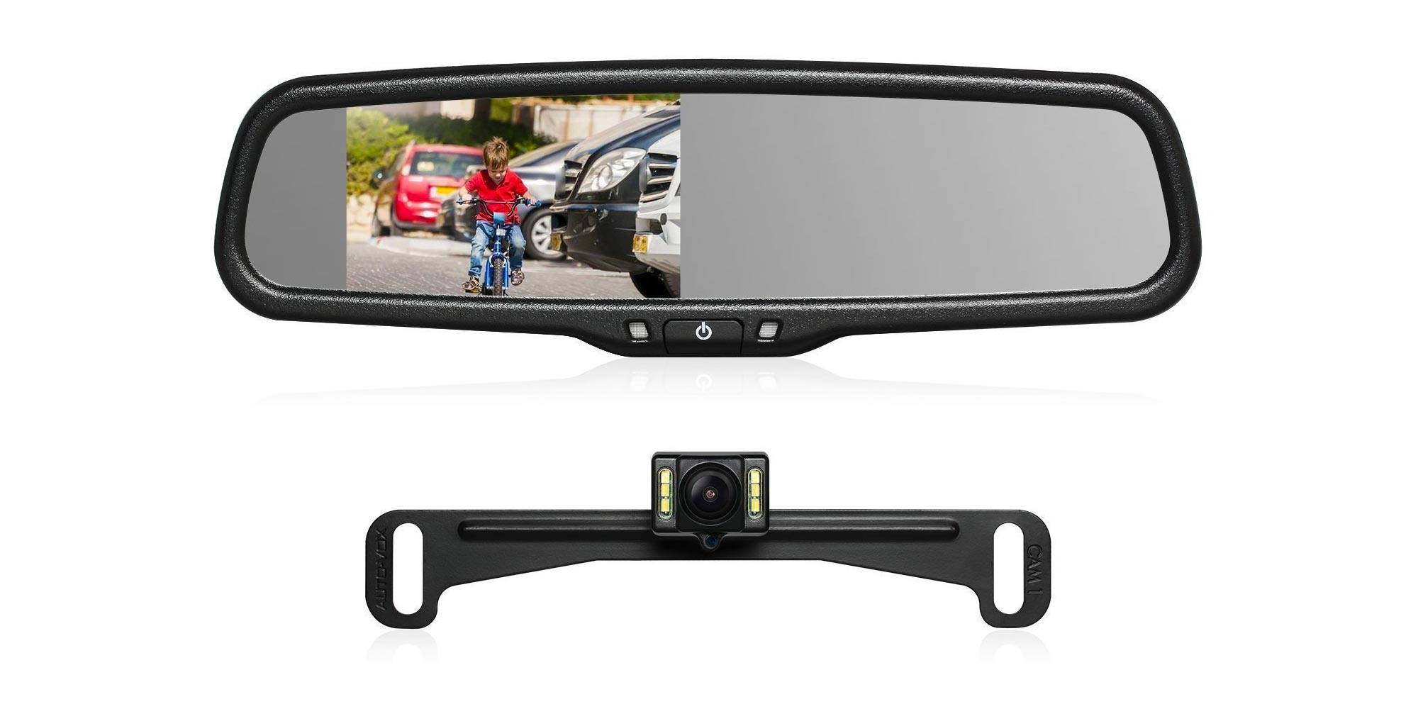 Put a backup camera in your rearview mirror w/ this highly-rated kit for $98 at Amazon (30% off)