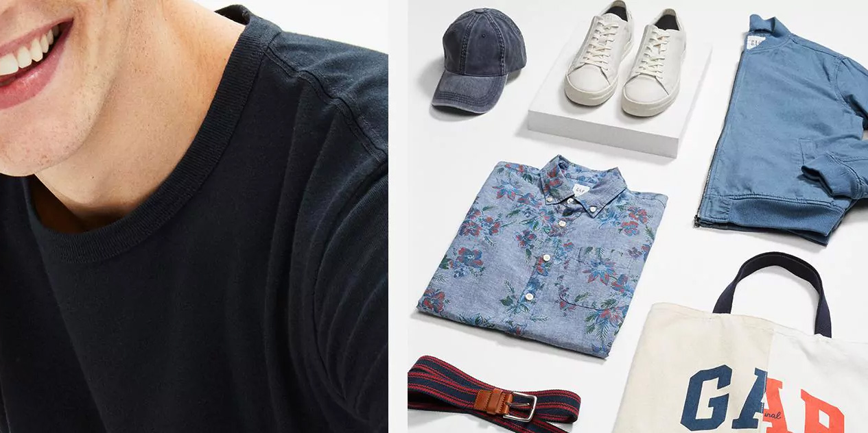 GAP is loaded with deals from $13 including 40% off sitewide + an extra 50% off clearance