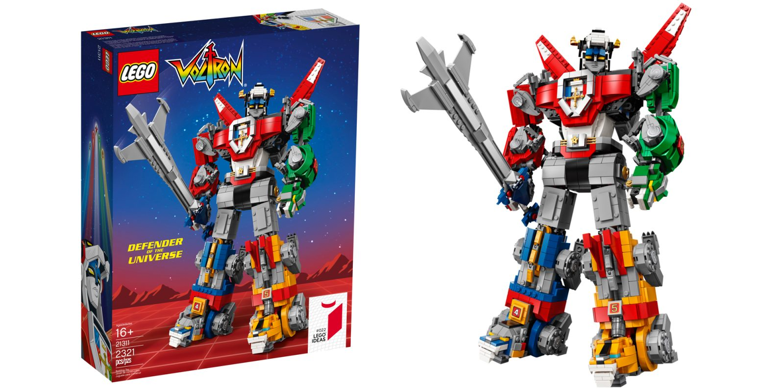 LEGO Ideas debuts 2,300-piece Voltron, the 'biggest buildable LEGO mech ever'