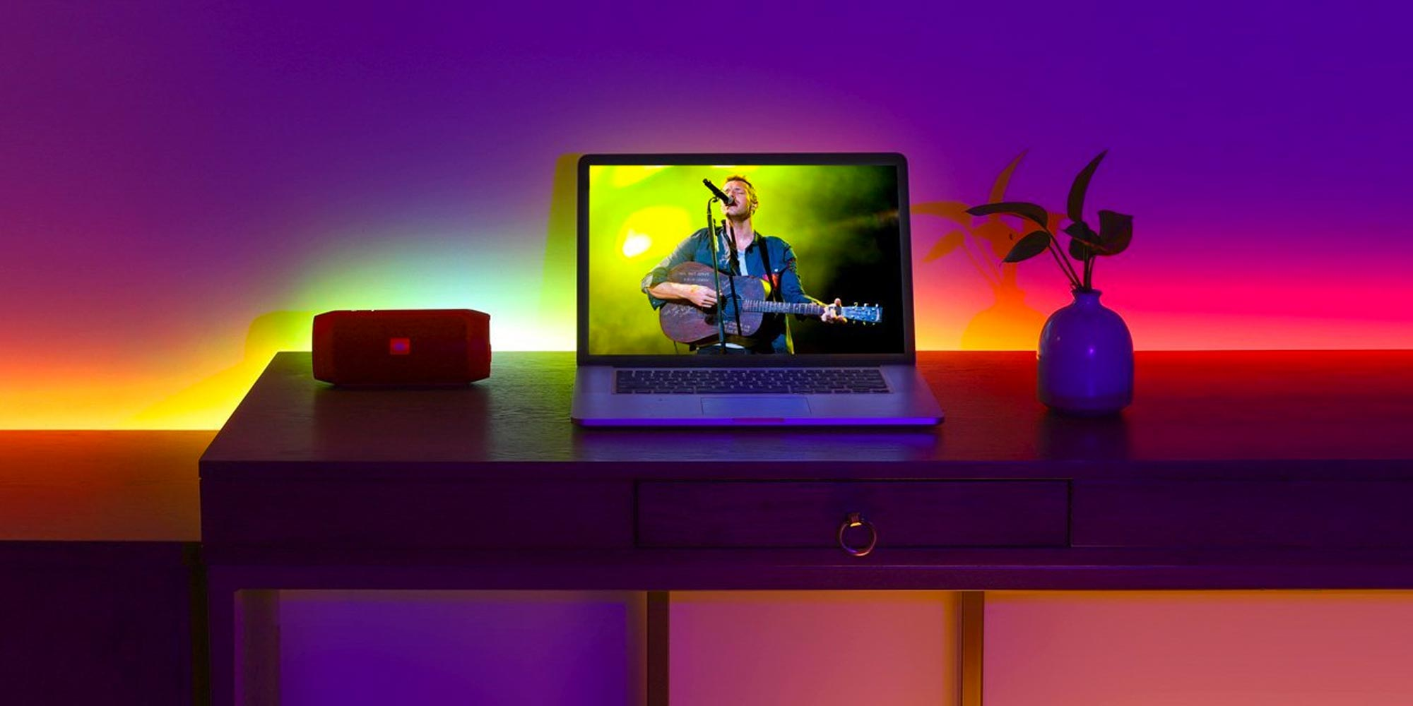 For just $10 you can add this RGB LED light strip to any space inside (or outside) of your home
