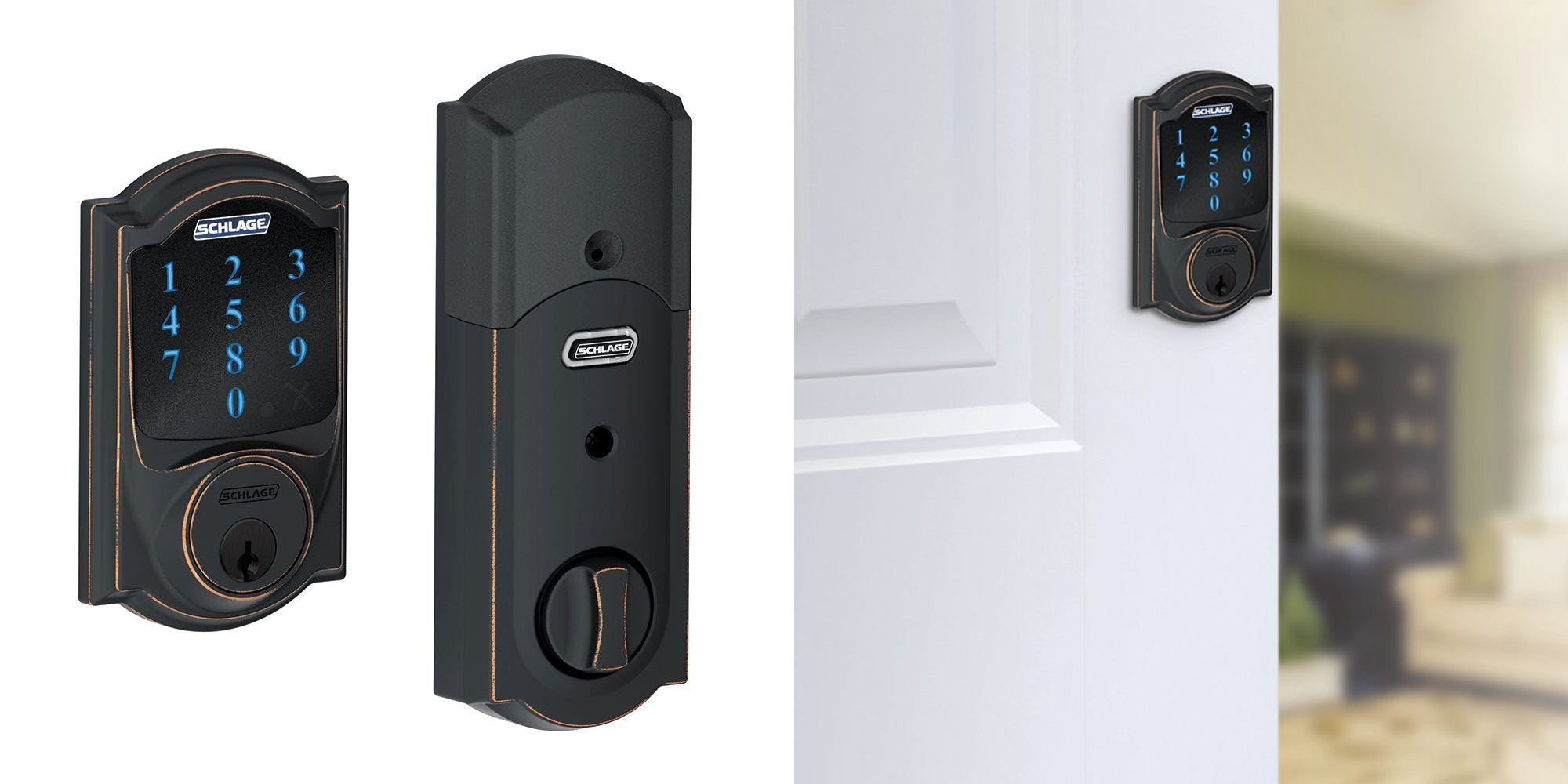 Schlage S Z Wave Connect Touchscreen Deadbolt Drops To 94