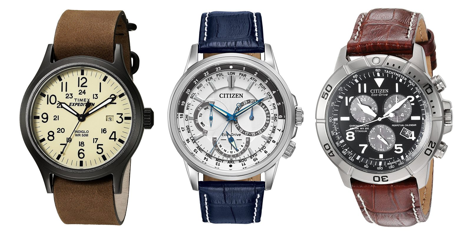 Men's watches now 50% off at Amazon: Citizen, Timex, GUESS and more from $15