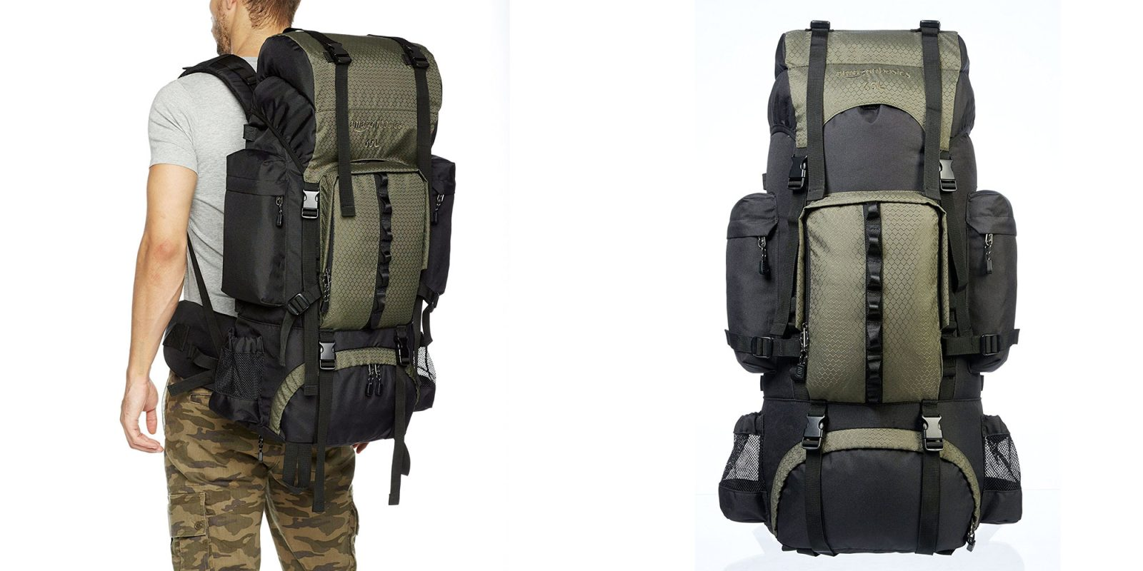 AmazonBasics 65L Internal Frame Hiking Backpack is within cents of ...