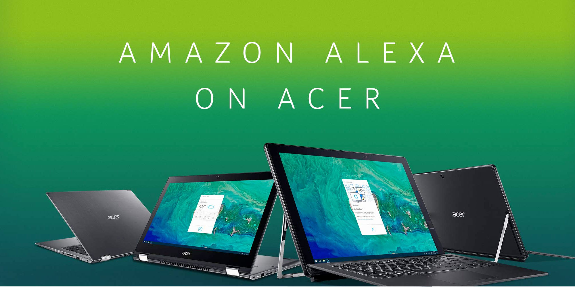 Acer's Alexa-enabled laptops get first discount, bundled Echo Dot, more from $600