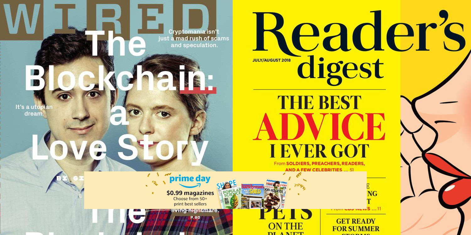 Get a 1-year Kindle Magazine Subscription from Wired, Reader\'s ...
