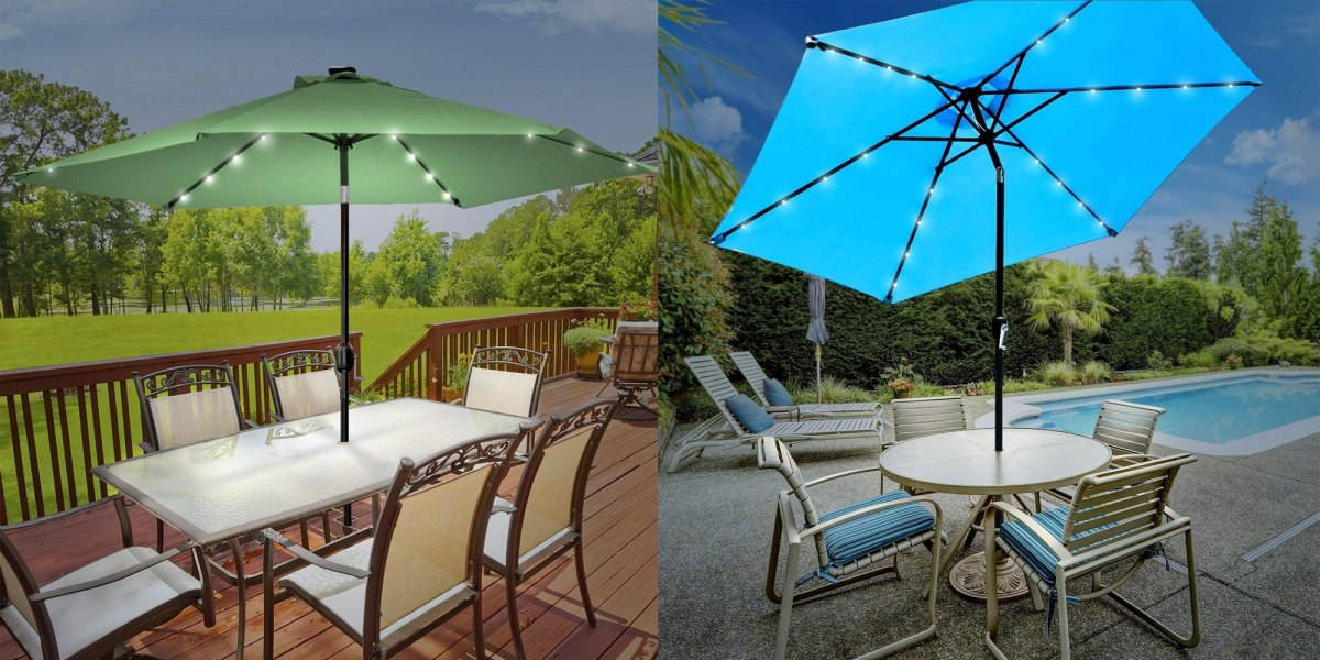 Led Lights 60 Reg 75 9to5toys, Sorbus 10 Ft Outdoor Patio Umbrella With Solar Charging Led Lights