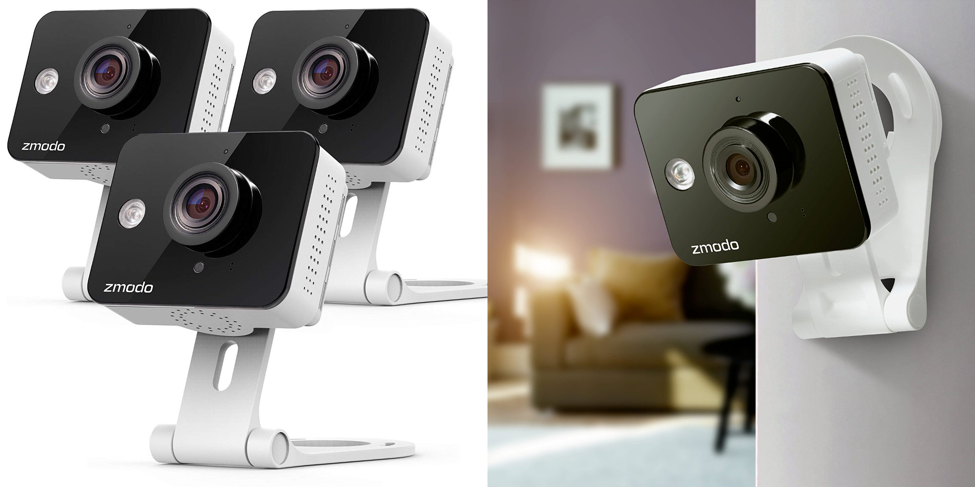 Save 25% when you buy this 3-pack of Zmodo 720p Wi-Fi