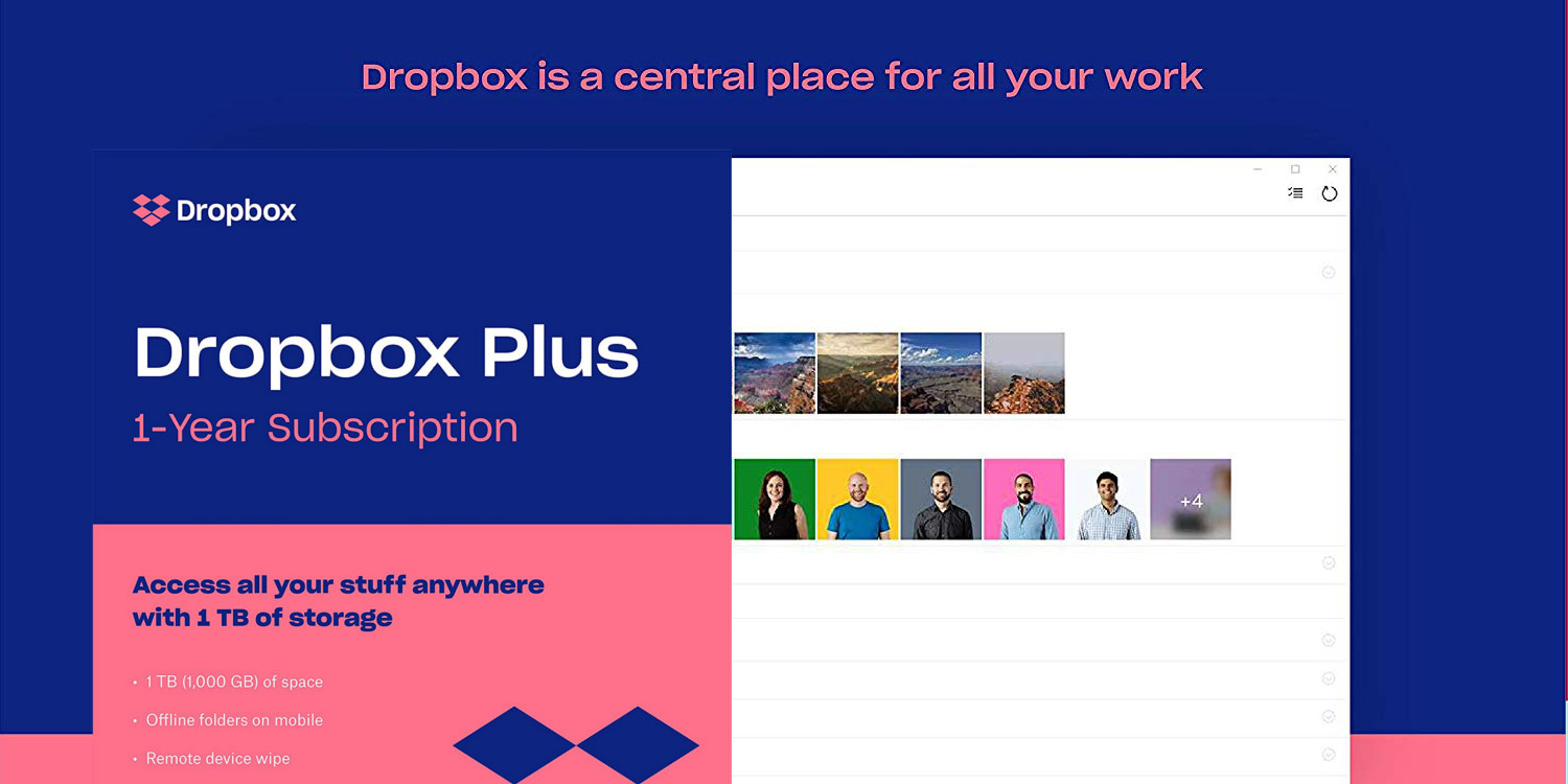 Get 1TB of Dropbox cloud storage + a $20 Amazon gift card at $99 (today only)