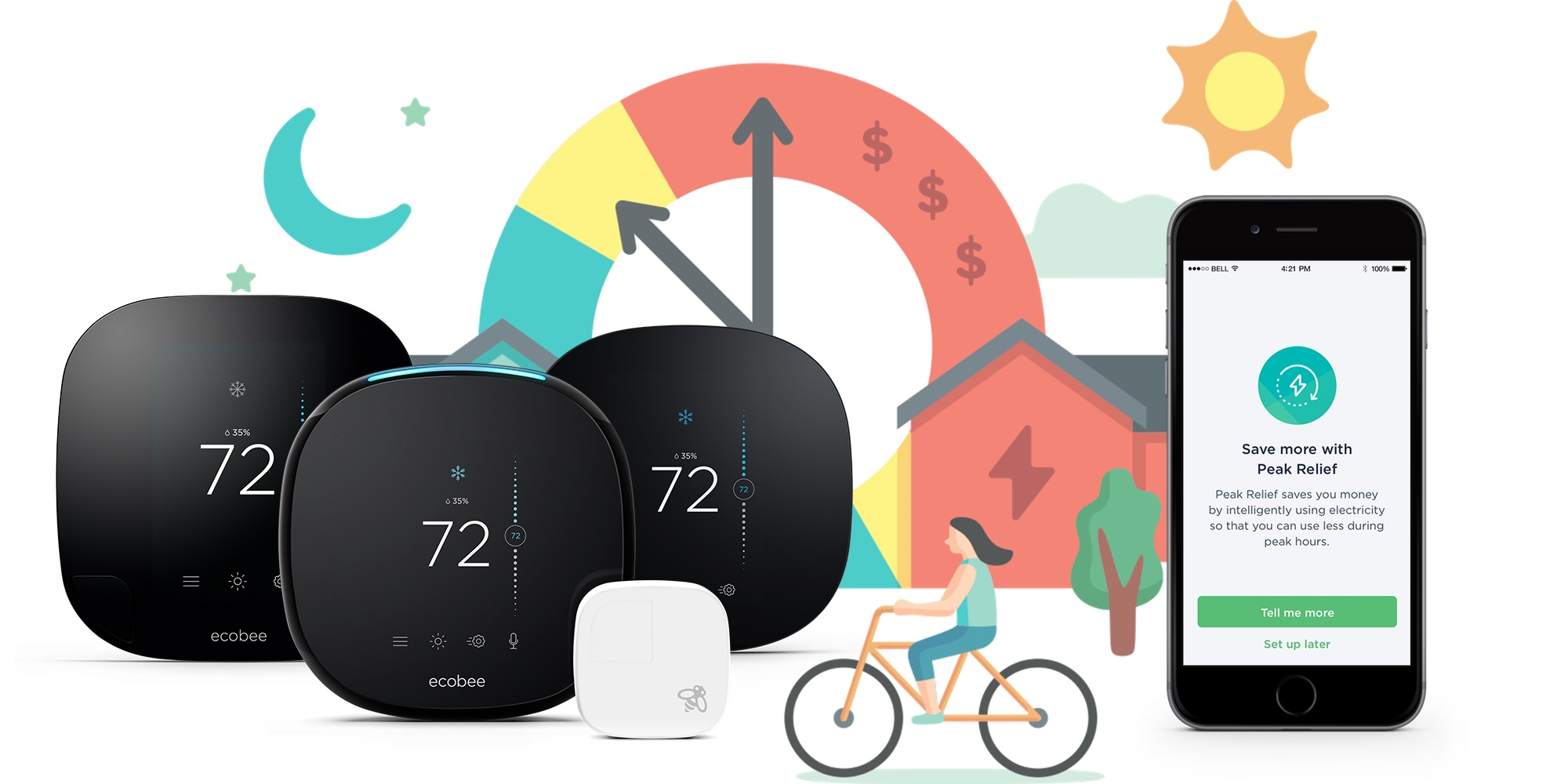 ecobee thermostat's new Peak Relief feature cuts down on energy usage, saves you money