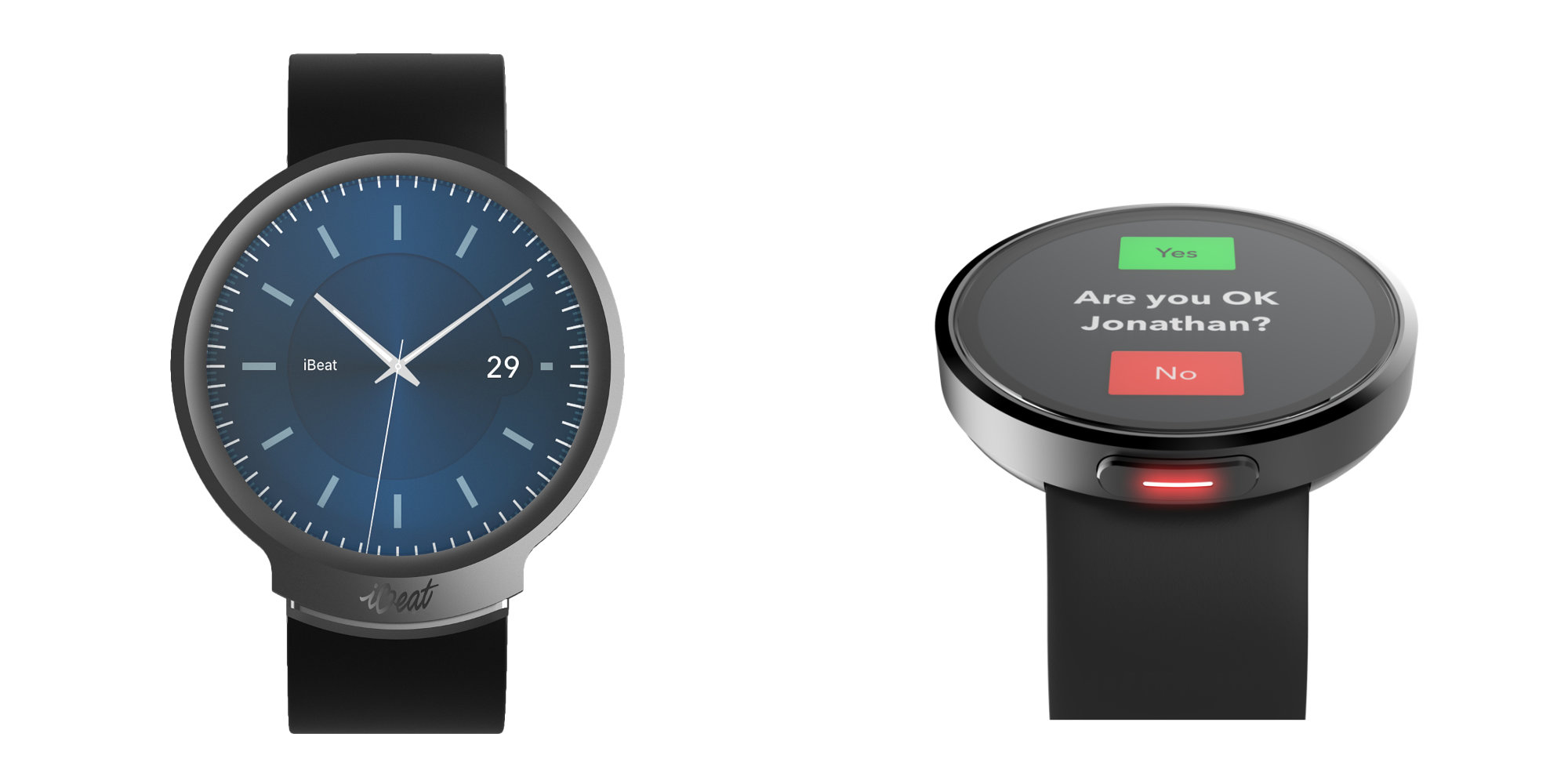 iBeat's new Heart Watch offers continual health monitoring with one-touch emergency button