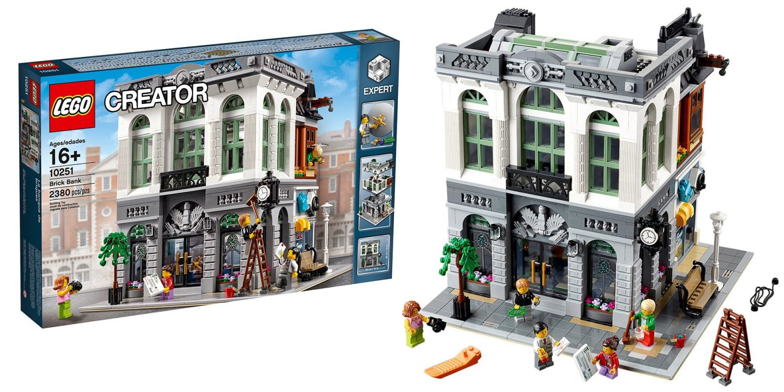 Assemble The 2380 Piece Lego Creator Expert Brick Bank At A New All