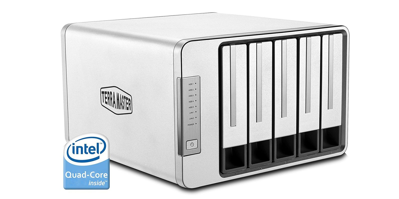 Terramaster's 5-Bay NAS works w/ Plex & supports up to 60TB of storage: $400 ($150 off)
