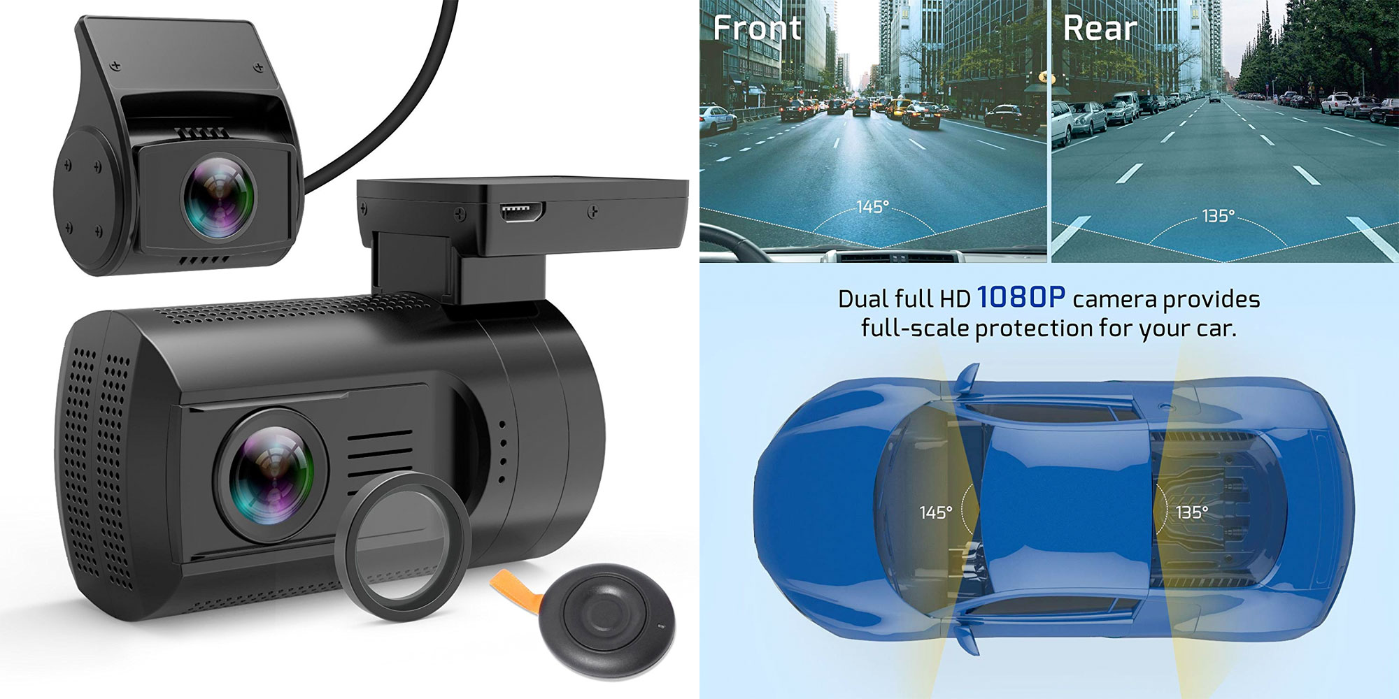 This dash cam has front/rear cameras, GPS data, more for $100 shipped (Reg. $130)