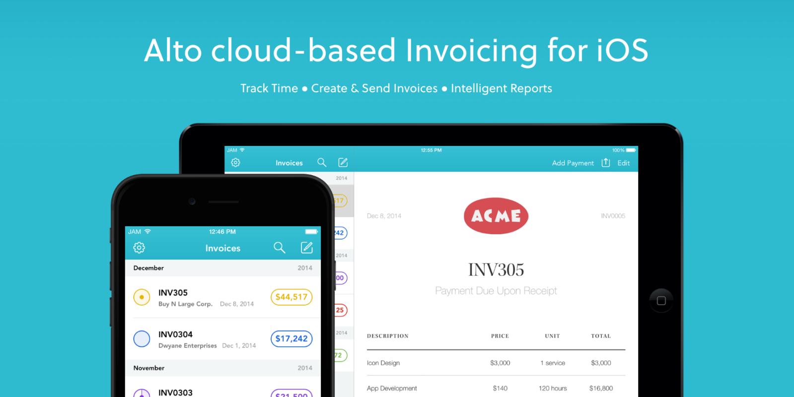 Todays Best IOS Mac App Deals Invoice By Alto Floor Plan More - Best ios invoice app
