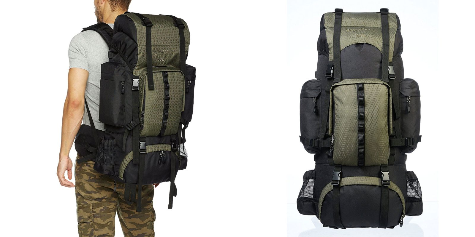 Conquer mountains w/ AmazonBasics Internal Frame Hiking Backpacks ...